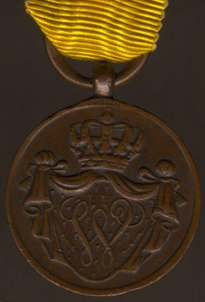 Miniatur / Reduktion - Niederlande, Armee-Dienstauszeichnung in Bronze