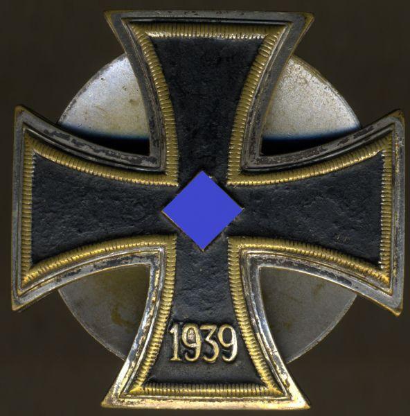 Eisernes Kreuz 1. Klasse 1939 - Schinkel - Schraubscheibe - einteilig (!) - Schickle / Pforzheim