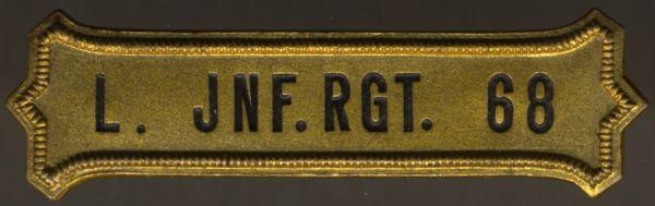Regimentskreuz-Spange des 6. Rheinischen Landwehr-Infanterie-Regiments 68