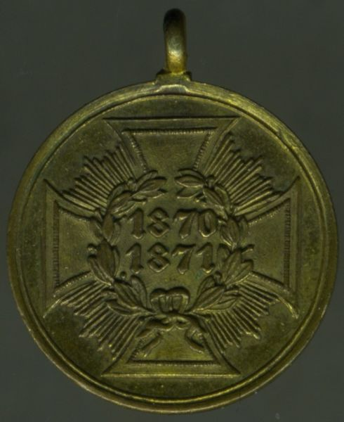 Miniatur - Preußen, Kriegsdenkmünze 1870/71 (Bronze)