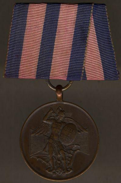 Einzelordensschnalle - Bayern, Bronzene Medaille des Verdienstordens vom Hl. Michael