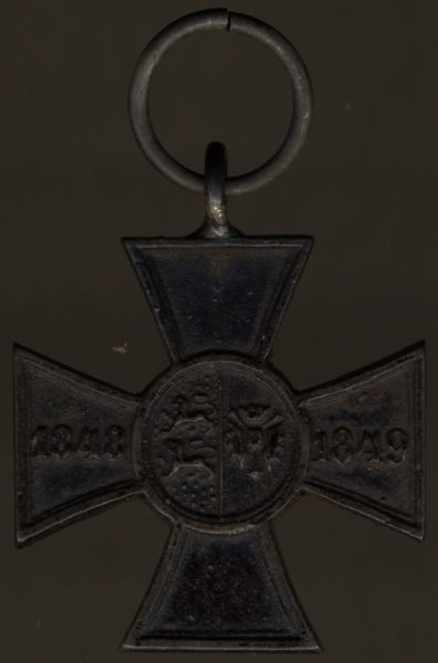 Schleswig-Holstein, Erinnerungskreuz (für die schleswig-holsteinische Armee) 1848/49