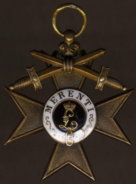Bayern, Militär-Verdienstkreuz 1. Kl. am Bande für Kriegsverdienst (mit nachgerüsteten Schwertern)