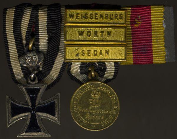 Miniatur-Ordensschnalle Preußen 1870/71