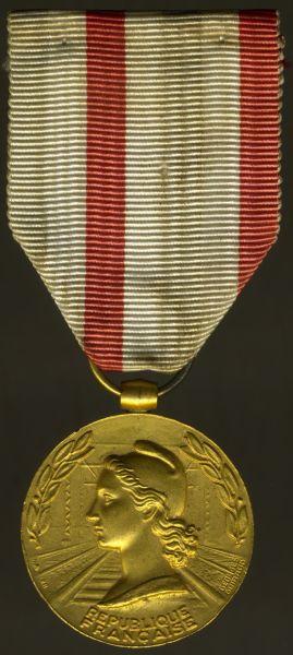 """Frankreich, Eisenbahn-Ehrenmedaille in Gold """"M. BRETONNEAU 1953"""""""
