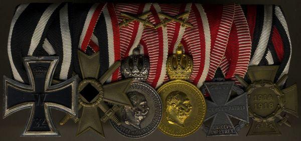 6er Ordensschnalle eines österreichischen Veteranen beider Weltkriege