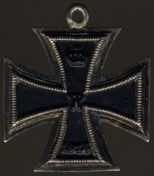 Miniatur - Eisernes Kreuz 2. Klasse 1914 - dreiteilig (!)