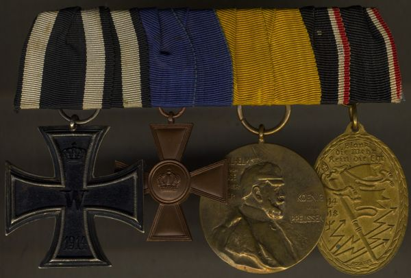 4er Ordensschnalle eines preußischen Weltkriegsveteranen