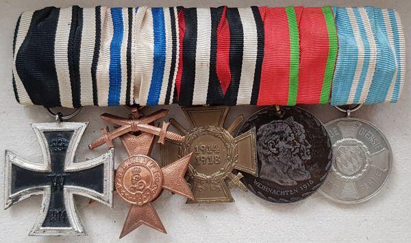 5er Ordensschnalle eines bayerischen Weltkriegsveteranen