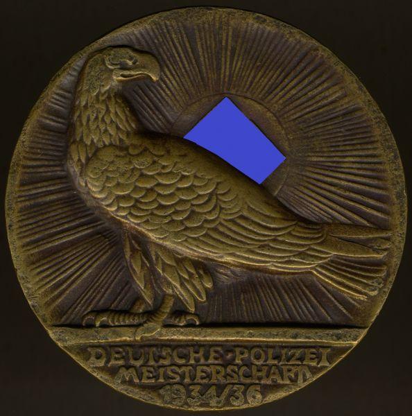 Ehrenpreis des Reichsministers des Inneren zur Deutschen Polizei-Meisterschaft 1934/36