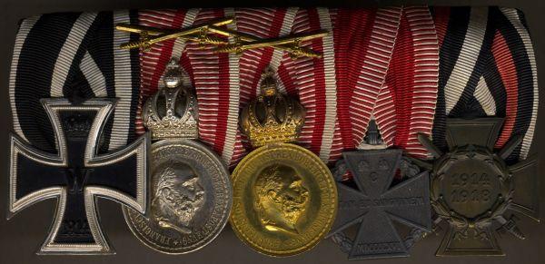 5er Ordensschnalle eines österreichischen Weltkriegsveteranen