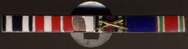 6er Knopflochdekoration - emaillierte Bänder (!)