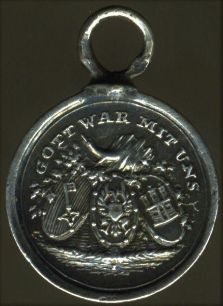 Miniatur - Kriegsdenkmünze 1813/14/15 der Hanseatischen Legion