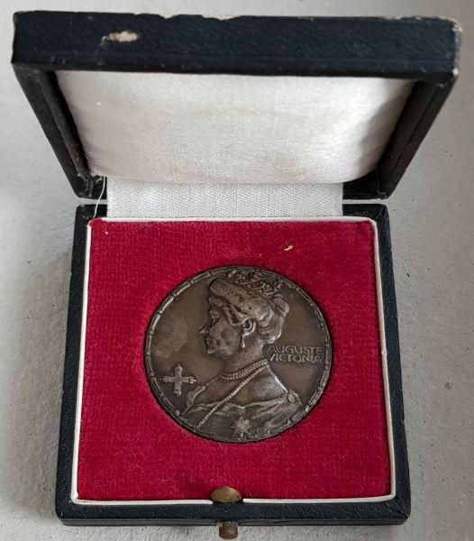 Preußen, Samariter-Medaille (1914) mit Etui