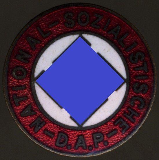 """NSDAP-Mitgliedsabzeichen / """"Parteiabzeichen"""" - früh (!)"""