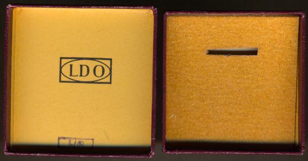 LDO-Schachtel zur Miniatur eines Mutterkreuzes - L/60 (!) - Gustav Brehmer / Markneukirchen
