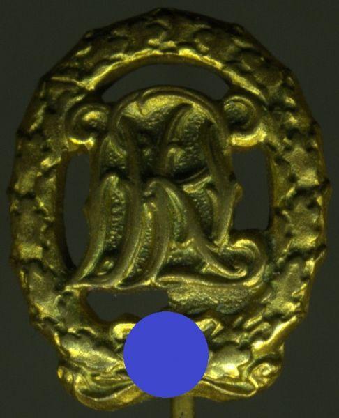 Miniatur - Reichssportabzeichen in Gold - Hermann Wernstein / Jena