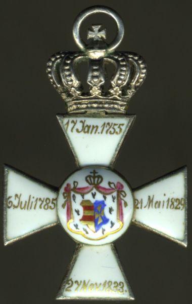 Miniatur - Oldenburg, Haus- & Verdienstorden Ritterkreuz 2. Klasse