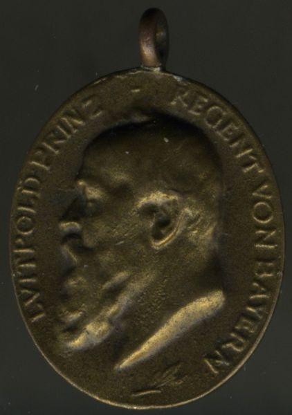 Miniatur - Bayern, Prinzregent Luitpold-Medaille in Bronze