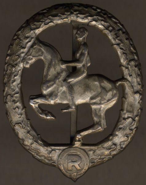 Deutsches Reiterabzeichen in Silber - Chr. Lauer / Nürnberg - 990/1000 Silber (!)