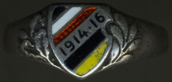 Patriotischer Fingerring 1914/16 Deutsches Reich & Österreich