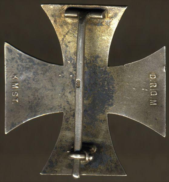 Eisernes Kreuz 1. Klasse 1914 - KMST - Nadelsicherung (!)