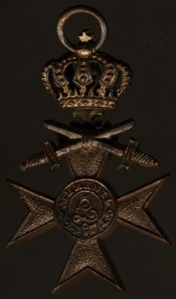 Miniatur - Bayern, Militär-Verdienstkreuz 3. Klasse mit Krone & Schwertern