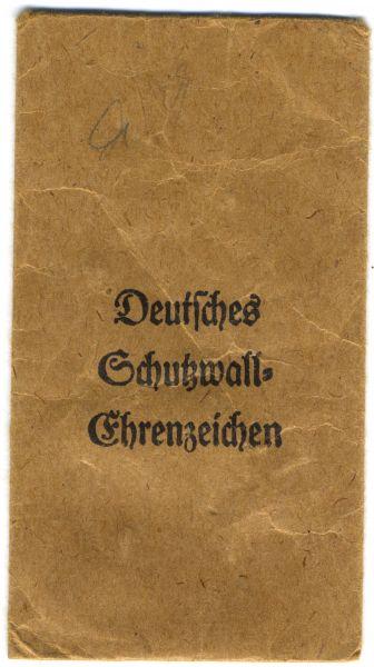 Tüte zum Schutzwall-Ehrenzeichen - Ferd. Hoffstätter / Bonn