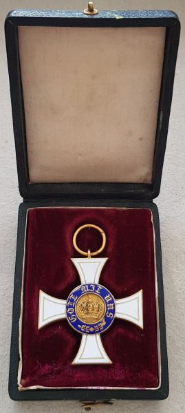 Preußen, Kronenorden 3. Klasse mit Etui (2. Modell)