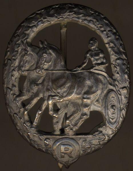 Deutsches Fahrerabzeichen in Silber - Chr. Lauer / Nürnberg - 990/1000 Silber (!)