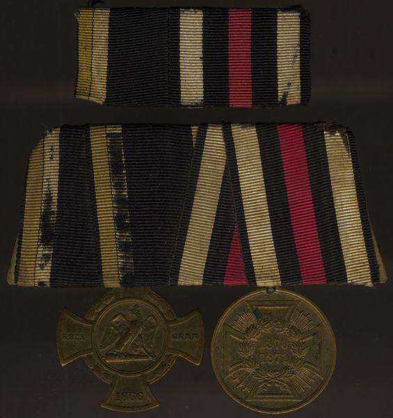 2er Ordens- & Feldschnalle eines 1866- & 1870/71-Veteranen
