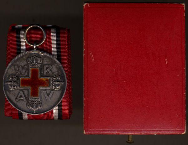 Preußen, Rote-Kreuzmedaille 2. Klasse mit Etui