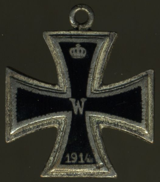 Miniatur - Eisernes Kreuz 2. Klasse 1914 - Emaille