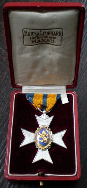 Schwarzburg-Rudolstadt, Fürstliches Ehrenkreuz 3. Klasse mit Etui - Bury & Leonhard / Hanau