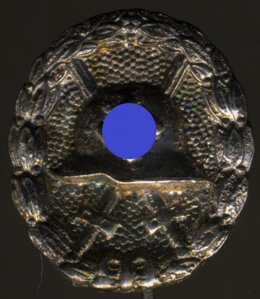 Miniatur - Verwundetenabzeichen 1939 in Silber (1. Form)