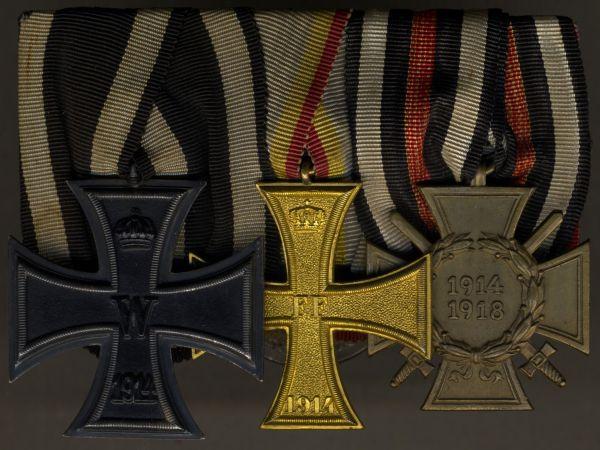 3er Ordensschnalle eines Weltkriegsveteranen mit Mecklenburg-Schwerin