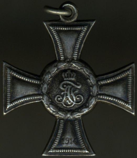 Miniatur - Mecklenburg-Strelitz, Kreuz für Auszeichnung im Kriege 1914 (2. Klasse)