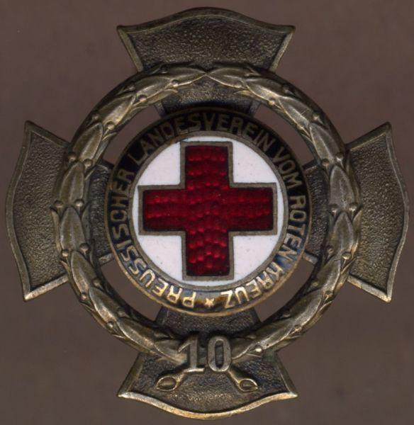 Preußen, Ehrenzeichen des Landesvereins vom Roten Kreuz für 10 Jahre - Godet / Berlin