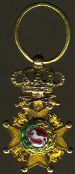 Miniatur - Hannover, Guelphen-Orden mit Schwertern