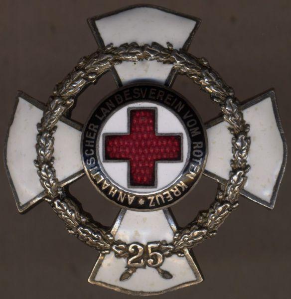 Anhalt, Ehrenkreuz des Landesvereins vom Roten Kreuz für 25 Jahre verdienstvolle Tätigkeit