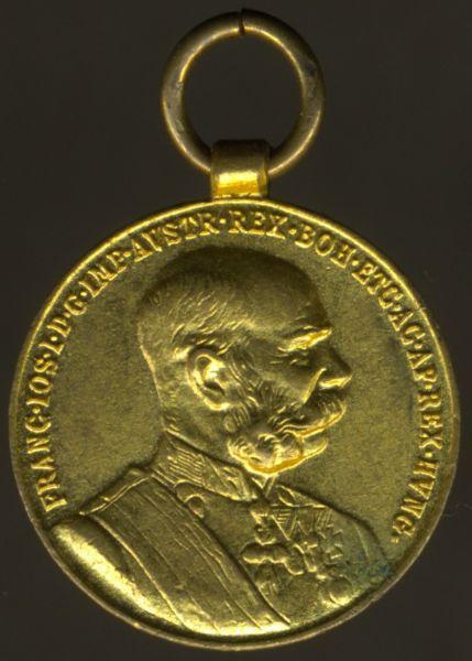 Miniatur - Österreich, Bronzene Jubiläums-Erinnerungs-Medaille 1898