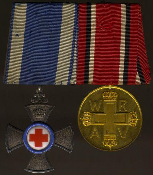 2er Ordensschnalle Rotes Kreuz Bayern