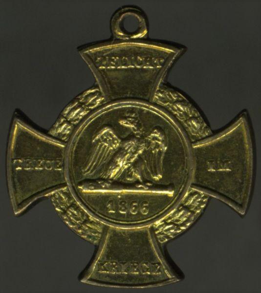 Miniatur - Preußen, Erinnerungskreuz 1866 für Nichtkämpfer