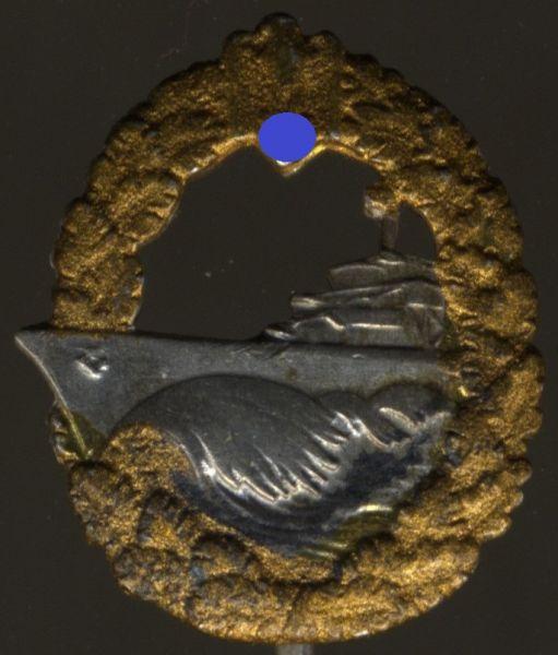 Miniatur - Zerstörer-Kriegsabzeichen