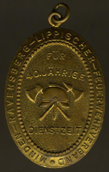 Ehrenzeichen für 40 Dienstjahre des Minden-Ravensberg-Lippischen Feuerwehrverbandes