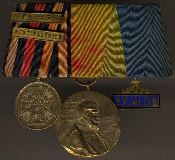 3er Ordensschnalle eines preußischen 1870/71-Veteranen
