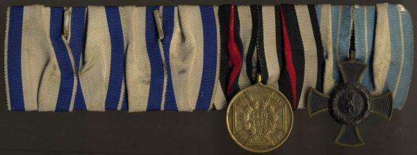 4er Ordensschnalle eines bayerischen 1866- & 1870/71-Veteranen