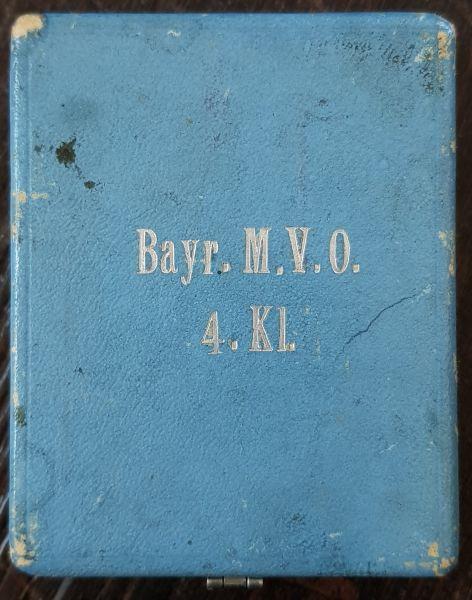 Etui zum Bayr. Militär-Verdienstorden 4. Klasse mit Schwertern
