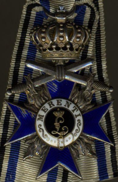 Bayern, Militär-Verdienstorden 4. Klasse mit Krone & Schwertern - Weiss & Co. / München