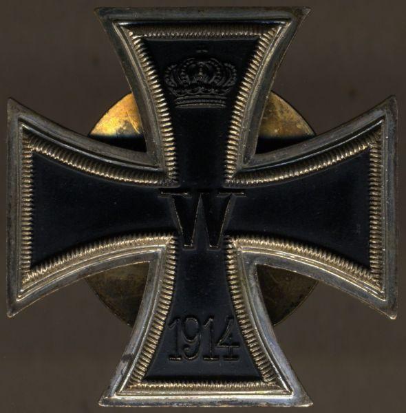Eisernes Kreuz 1. Klasse 1914 - Schraubscheibe - einteilig (!)